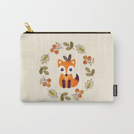 LITTLE FOX WITH AUTUMN BERRIES Carry-All Pouch