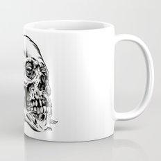 Skullflower Black and White  Mug