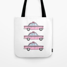 Pink Taxis Tote Bag