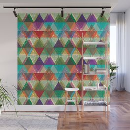 Colorfull abstract background of triangles Wall Mural