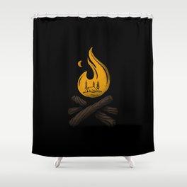 Camp & Bonfire Shower Curtain