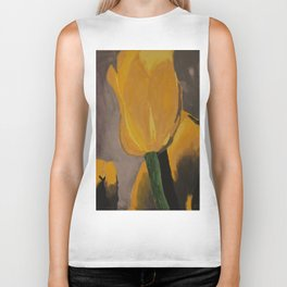 Yellow Tulips Biker Tank