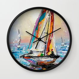 In the wind Wall Clock