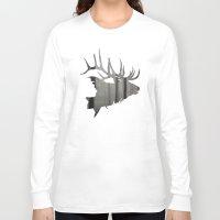 elk Long Sleeve T-shirts featuring Elk by Jeffrey Derrick