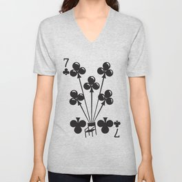 Curator Deck: The 7 of Clubs Unisex V-Neck
