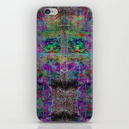 Senile Scream (abstract, psychedelic, visionary, glowing edges) iPhone Skin