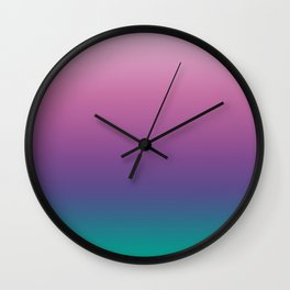Pastel Gradient Pink Lavender Ultra Violet Arcadia Pattern | Pantone colors of the year 2018 Wall Clock