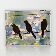 Three Birds on the Line Laptop & iPad Skin