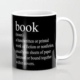 Book Definition (White on Black) Coffee Mug