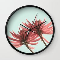 west coast Wall Clocks featuring West Coast Nature 2 by Leah M. Gunther Photography & Design