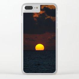 melting sun Clear iPhone Case
