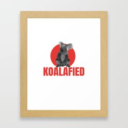 Highly Koalafied Carpenter print Funny graphic Framed Art Print