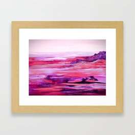 Nevada Abstract Landscape in Purple Framed Art Print