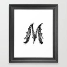 Leaf Script M Framed Art Print