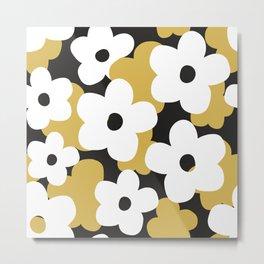 large minimalist retro style flower composition Metal Print