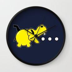 Waka Waka Hippos Wall Clock