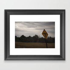 T Road Framed Art Print