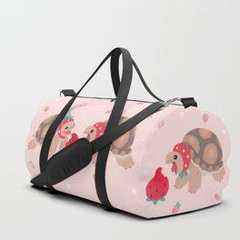 Tortoises love strawberries Duffle Bag