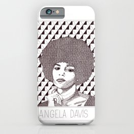Angela Davis Portrait iPhone Case
