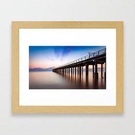 Sunset over Felixstowe Pier Framed Art Print