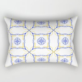 Azulejo Luso - Portuguese Tiles yellow Rectangular Pillow