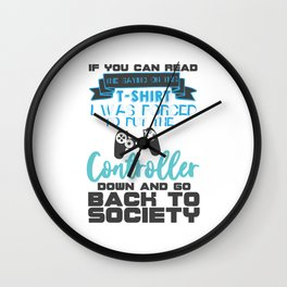 Force to go back to Society Wall Clock