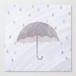 Cure the rain of color Canvas Print