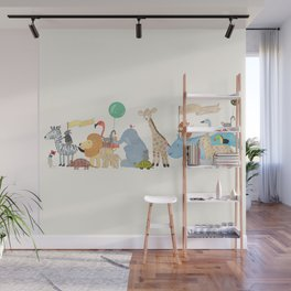 little safari parade Wall Mural