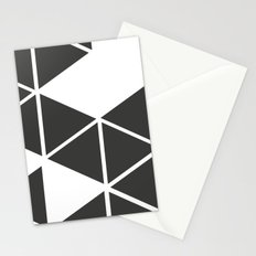 T R I _ N G L S (BLK) Stationery Cards