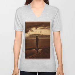 Another Place on Crosby Beach Unisex V-Neck