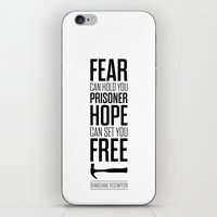 stephen king iPhone & iPod Skins featuring Lab No. 4 - Hope Inspirational Quote by Stephen King Inspirational Quotes by Lab No. 4