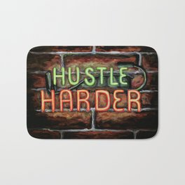 Hustle Harder Bath Mat