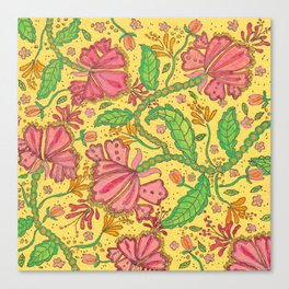 Florally Floral Town Canvas Print