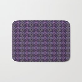 Purple Iris Abstract Pattern Bath Mat