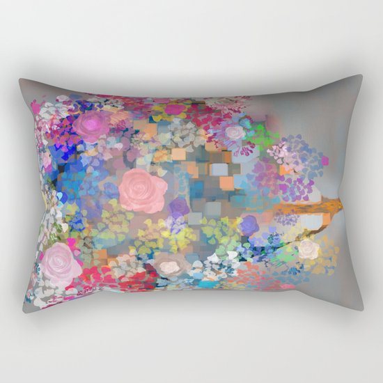 Floral abstract(56) Rectangular Pillow
