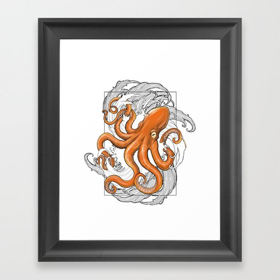 Hexapus Ink 3 Framed Art Print