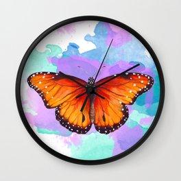 Sunset Fireflies Wall Clock