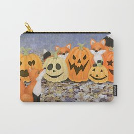 foxes, jack o'lanterns, and ghost clouds Carry-All Pouch