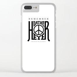 Heather Heyer Clear iPhone Case