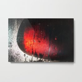 The steam on the glass and the light in the Mirror Metal Print