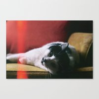 tina crespo Canvas Prints featuring Tina  by Jessica Phillips