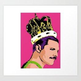 king freddie Art Print