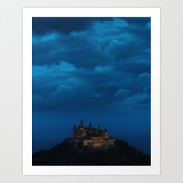 Magical Castle under a moody cloudy sky – Landscape Photography Art Print