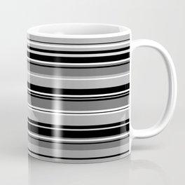 Mixed Striped Design Monochrome Coffee Mug