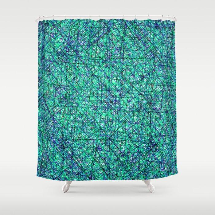 Seahawk Chaos Shower Curtain