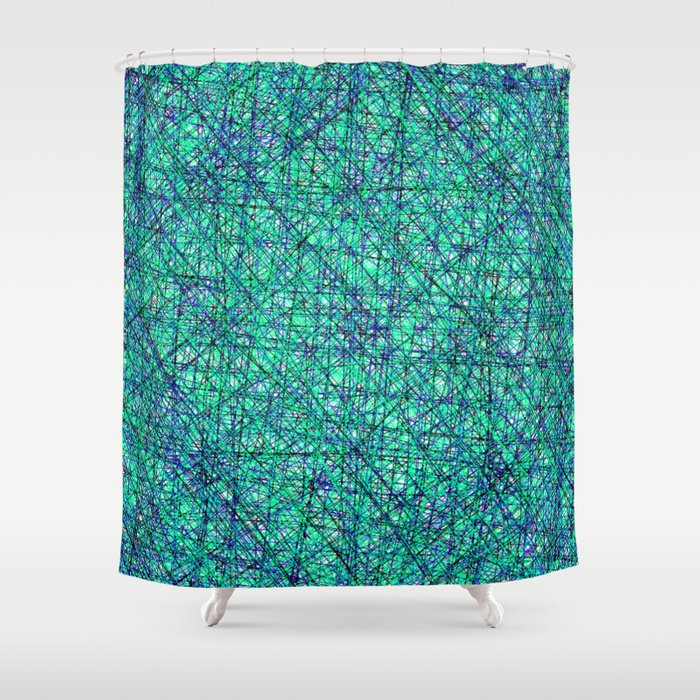 Seahawk Chaos Shower Curtain