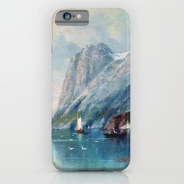 Fjord In Norway 1899 By Lev Lagorio   Reproduction   Russian Romanticism Painter iPhone Case