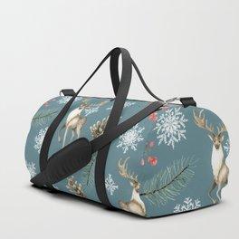 Xmas Pattern Teal #socieyt6 #buyart Duffle Bag