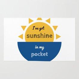 pocket of sunshine Rug