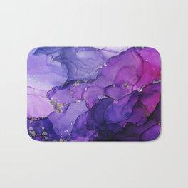 Violet Storm - Abstract Ink Bath Mat